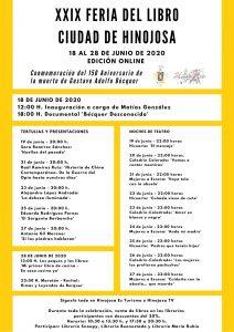 """¡XXIX FERIA DEL LIBRO """"CIUDAD DE HINOJOSA""""! EDICIÓN ONLINE"""