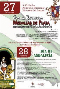 MEDALLAS DE PLATA CIUDAD DE HINOJOSA Y DÍA DE ANDALUCÍA 2020