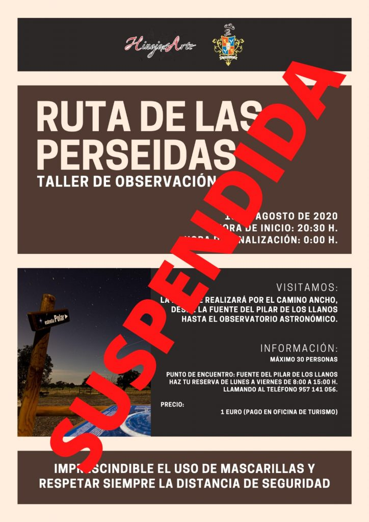 RUTA DE LAS PERSEIDAS. Taller de Observación