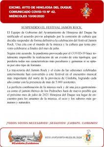 JAMON ROCK 2020. SUSPENDIDO